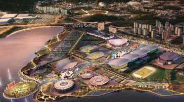 Rio de Janeiro's Olympic Park will be located next to the water's edge in the Barra area of the the city and is set to be used in the 2016 Summer Olympics.