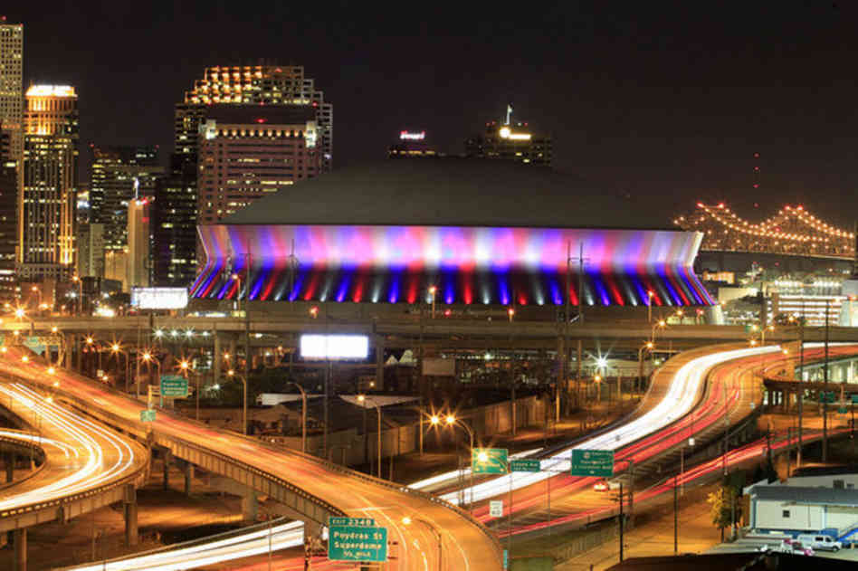 World s most iconic sporting venues utilize aluminum to for Mercedes benz superdome new orleans la