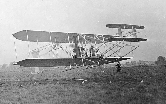 Orville and Wilbur Wright flew the first airplane in 1903.